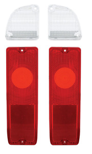 Pair Tail Light Lamp Reverse Lenses For 1967 72 Chevy Gmc Pickup Truck