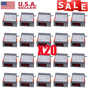 10a 110v Digital Temperature Controller Sensor Thermostat Control Relay Lot 20