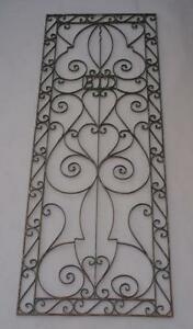 1920s Decorative Wrought Iron Grill Antique Spanish Revival Vintage Tudor 4838