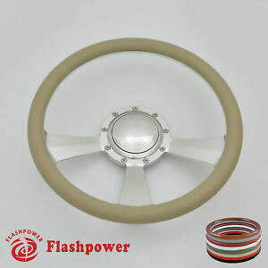 14 Billet Steering Wheels Tan Half Wrap Buick Cadillac Pontiac Gto Firebird