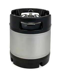 New Kegco 1 75 Gallon Home Brew Ball Lock Keg With Rubber Handle