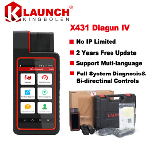 Launch X431 Diagun Iv Full Set Auto Car Diagnostic Scan Tool With Wifi Bluetooth