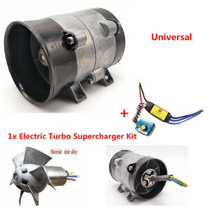 Auto Electric Turbo Charger Air Intake Boost Fan 12v 16 5a Powerful W Contol 1x