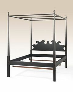 Queen Size Pencil Post Poster Bed Frame Rustic Black American Made Furniture New