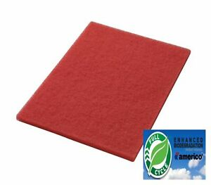 14 X 28 Red Floor Scrubbing Buffer Pads Box Of 5 Daily Cleaning Spray Buffing
