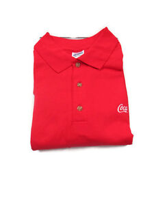 Coca-Cola Golf Shirt Red XL with embroidered Coca-cola emblem  - BRAND NEW
