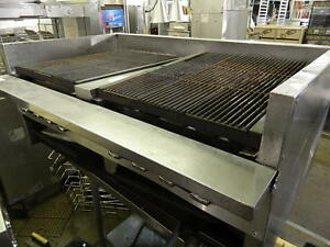 Imperial Range 48 Natural Gas Charbroiler Countertop Steakhouse Adjustab Grates