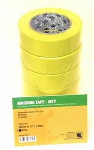 Indasa 556771 1 1 2 Yellow Masking Tape Slv Of 6 Rolls Automotive Marine