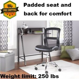 Black Task Rolling Chair Comfortable For Computer Desk Office Adjustable Height