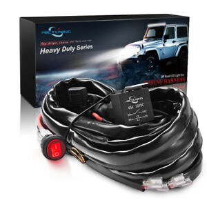 Mictuning 600w Led Light Bar Wiring Harness 60a Relay Fuse Waterproof Switch Red