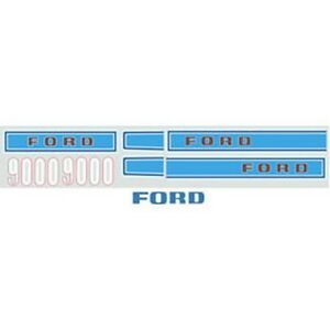 New 9000 Ford Tractor Hood Decal Kit 9000 High Quality Decals
