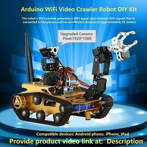 Arduino Wifi Video Crawler Robot Kit style One