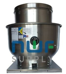 Restaurant Upblast Commercial Hood Exhaust Fan 22x22 Base 1 3 Hp 1529 Cfm