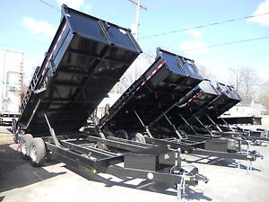 Brand New 2020 83 X 16 Dump Trailer 14 000 G v w r Ramps D rings 3 Way Gate