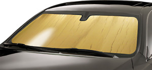 Intro Tech Gold Custom Car Sunshade For 1987 1993 Volkswagen Fox Base