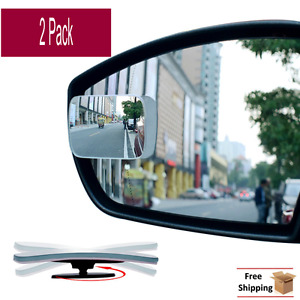 2x Blind Spot Mirror Wide Angle Adjustable Rear Side View Auto Car Universal Fit