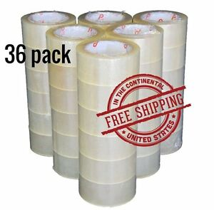36 Rolls Clear Carton Sealing Tape Packing Package Box 2 Mil 2 x110 Yards 330 Ft