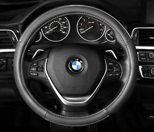 Steering Wheel Cover Grey Chrome Line Accent New Pu Leather 14 5 15 5 M