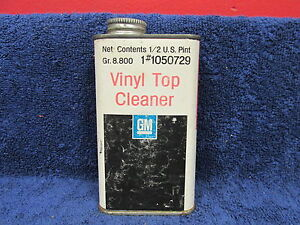Vintage Gm Empty Vinyl Top Cleaner Can Mancave Display Gm Accessory 517