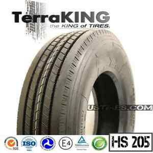 Terraking Hs205 11r24 5 16 Ply Steer Front Trailer All Position Truck Tires