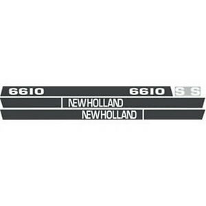 New 6610s New Holland Tractor Hood Decal Kit 6610s High Quality Hood Decals