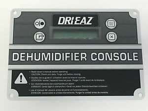 Dri eaz Control Panel Assembly 08 00259 For 1200 2000 2400 Dehumidifiers