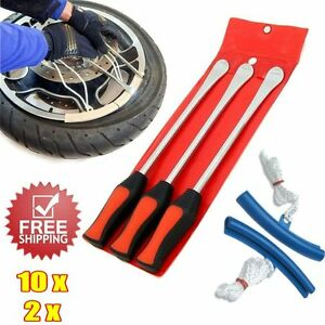 Lot 3pcs Tire Lever Tool Spoon Motorcycle Tire Iron Change Wheel Rim Protector