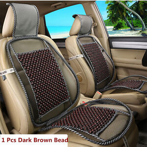 1x Wooden Beads Car Seat Mesh Cover Cushion Pad Massage For Home Office Chair