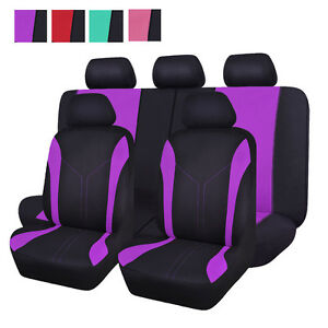 Deluxe Car Seat Covers Set Breathable Sweet Lady Universal Auto Seat Protectors