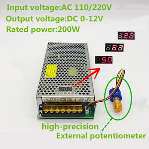 Ac110 220 To Dc 0 12v Adjustable Switching Power Supply With Digital Display Led