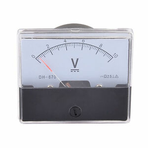 Dc 0 10v Class 2 5 Accuracy Analog Panel Volt Meter Gauge Quantity 9