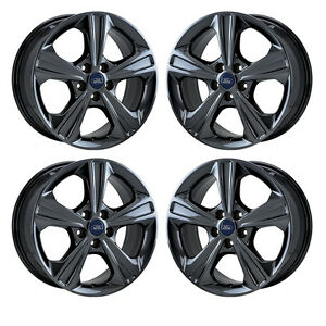 17 Ford Escape Black Chrome Wheels Rims Factory Oem Set 4 3943 Exchange