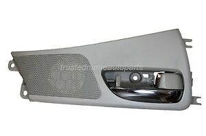 Interior Inner Inside Door Handle Gray Housing With Chrome Lever Front Right
