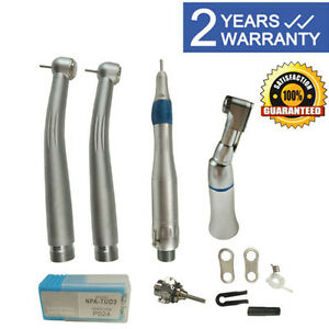 Dental Pana Max High low Speed Handpiece Kit Push Button 2hole W Case
