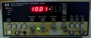 Hp Agilent 8111a 20 Mhz Pulse function Generator Calibrated