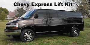 Chevy Express Lift Kit Van Leveling Front Gmc Savana 2003 2018 2wd Chevrolet
