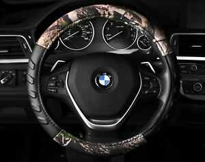 Camouflage Premium Steering Wheel Cover Camo Hunting Natural 14 5 To 15 5 M