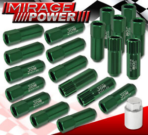 For Subaru M12x1 25 Locking Lug Nuts Truck Suv Exterior 20 Pcs Wheels Kit Green