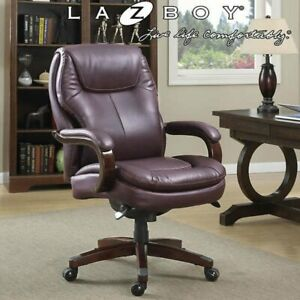 La z boy Big Tall Executive Leather Office Chair Black No Tax