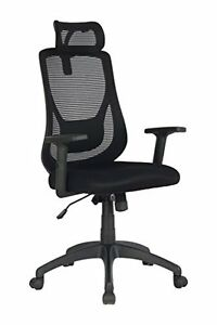 Office Ergonomic With Wheels High Back Mesh Chair Adjustable Headrest Armrest