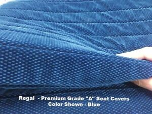 F series F23 Pickup Truck Blue Full Bench Seat Cover Molded Headrest For Ford