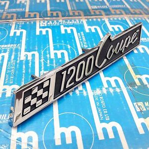 Mazda Familia 1200 Coupe Emblem Badge Front Grille Genuine Parts Nos Japan Rare