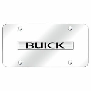 Buick Tri Color Logo Chrome Stainless Steel Standard Novelty Front License Plate