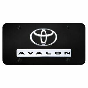 Toyota Aval3d Logo Black Stainless Steel Standard Novelty Front License Plate