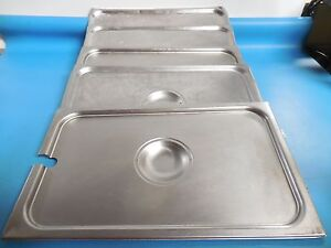 Full size Assorted Steam Pan Covers Lot Of 5