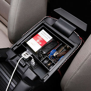 Xukey Fit For 2013 2017 Mazda 3 6 Arm Rest Center Console Storage Box Glove Tray