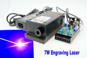 450nm 7w Blue Laser Module Ttl Carving burning engraning Gift Goggles
