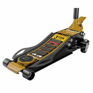 Cat 3 Ton Low Profile Service Jack Heavy Duty Built In Foot Pump