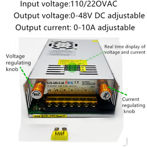Ac110 220 To Dc 0 48v 10a Current Voltage Adjustable Switching Mode Power Supply