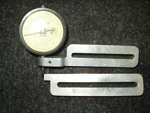 Vintage Heald Dial Indicator Three Dial Gage With Mount Frame Set